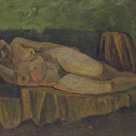 Sergey Belikov: 'woman on sofa', 1978 Oil Painting, Nudes. Artist Description: Original oil painting on canvas, in impressionistic style with the view of naked woman lying on sofa...
