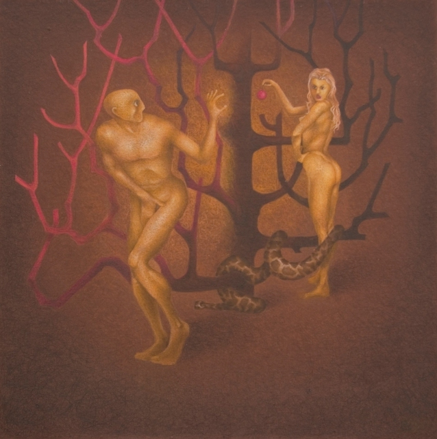 Valeri Migalesko  'Adam And Eve', created in 2010, Original Drawing Pencil.