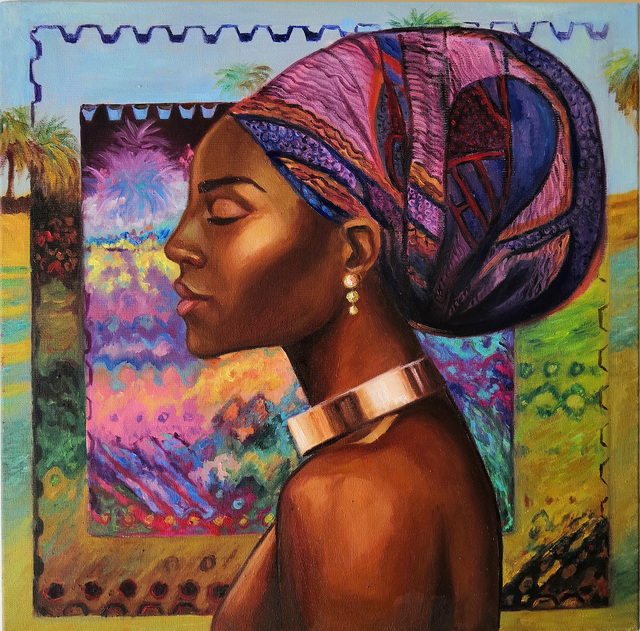 Svetlana Belova  'Gold Of Africa 2', created in 2020, Original Painting Oil.