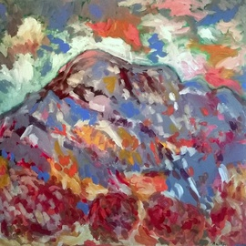 Pierre-yves Beltran: 'la montagne Sainte Victoire', 2015 Acrylic Painting, Abstract Figurative. Artist Description:      acrylic on canvas  acrylic on canvas   ...