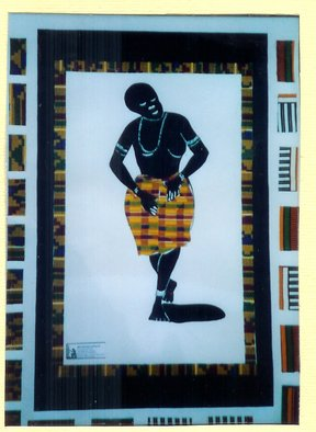 Collage by Benjamin Oppong -danquah titled: THE TRADITIONAL DANCER, 2005