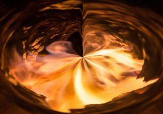 Bruno Paolo Benedetti Artwork abstract fire vortex, 2017 Mixed Media Photography, Abstract