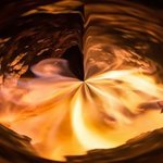 abstract fire vortex By Bruno Paolo Benedetti