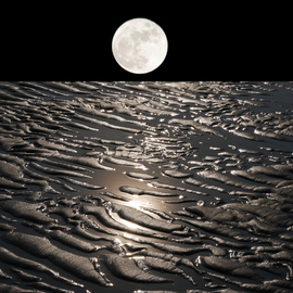 moon on earth with water