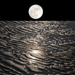 moon on earth with water By Bruno Paolo Benedetti