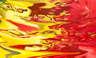 Bruno Paolo Benedetti: 'red and yellow flow', 2013 Digital Photograph, Abstract. Artist Description: Abstract  bright red and yellow color flow with many shades.  Single copy printed on Kodak Endura metallic paper, signed and numbered on the back.Buy RM License on