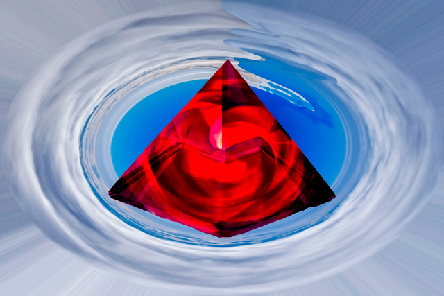 Bruno Paolo Benedetti  'Red Crystal Pyramid', created in 2015, Original Photography Other.