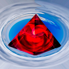 red crystal pyramid