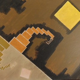 Ben Hotchkiss: 'Composition 2047', 1990 Oil Painting, Abstract. Artist Description: It is a painting that is a part of a 14 by 18 series that I painted in the 1980s.  It is among my earliest abstract oils. ...