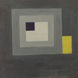 Ben Hotchkiss: 'Composition 2064', 1990 Oil Painting, Abstract. Artist Description: This is a painting that is part of a 14 by 18 inch series that I painted in the 1980s and 1990s.  It is amongst my earliest abstract oils. ...