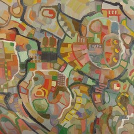 Ben Hotchkiss: 'Composition 2072', 2010 Oil Painting, Abstract. Artist Description: This is a painting that is part of a 2 foot by 2 foot series of abstract oils that was painted about ten years ago. ...
