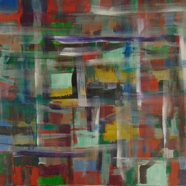 Ben Hotchkiss: 'Composition 2074', 2012 Oil Painting, Abstract. Artist Description: It is a painting that is a part of a 2 foot by 2 foot series of abstract oils that was painted about ten years ago. ...