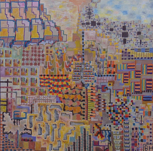 Ben Hotchkiss  'Composition 2250', created in 2011, Original Painting Other.