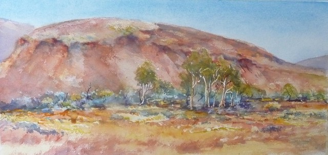 Bernice Wright  'Mesa Pilbara', created in 2010, Original Pastel.