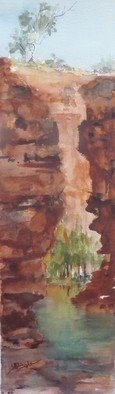 Artist: Bernice Wright - Title: Weano Gorge Pilbara - Medium: Watercolor - Year: 2010