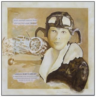 Benno Fognini Artwork Amelia, 2014 Acrylic Painting, Airplanes
