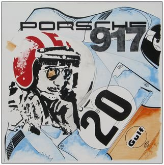 Acrylic Painting by Benno Fognini titled: Jo Siffert, 2014