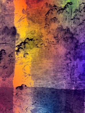 Bernadette  Rivera Artwork Rainbow Pond, 2016 Mixed Media Photography, Abstract