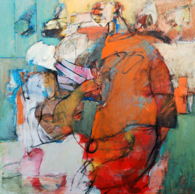 Abstract Figure Collages Abstract Figurative Blue