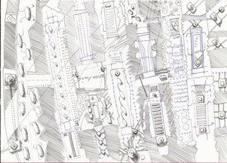 Pencil Drawing by Bruno Bernardo titled: bernynavigatorworld, 2007