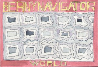 Pencil Drawing by Bruno Bernardo titled: bernynavigatorworld1, 2006
