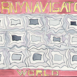 Bruno Bernardo Artwork Bernynavigatorworld1 2006 Pencil Drawing Abstract Landscape