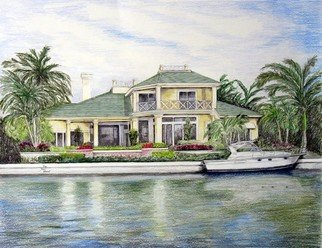 Pencil Drawing by Ron Berry titled: Draw My Home on the Bay, 2008