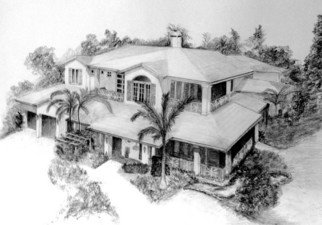 Pencil Drawing by Ron Berry titled: Draw My House I, 2007