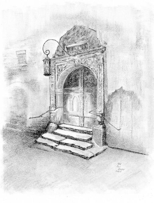 Architecture Drawing Pencil ron berry artwork: old door | original drawing pencil