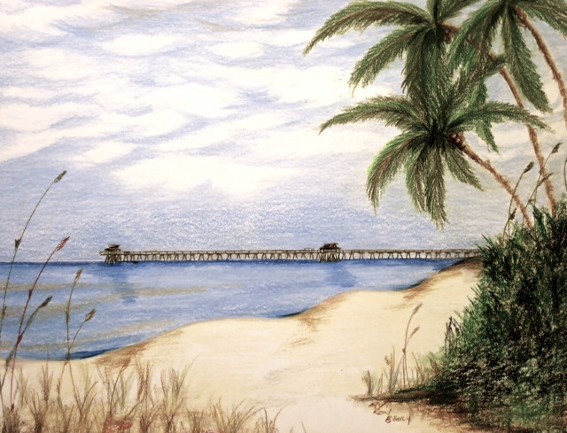 Beach Pier Drawing Ron Berry 'pier From 16th Ave