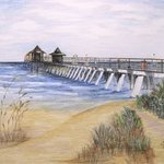 Pier and Bushes By Ron Berry