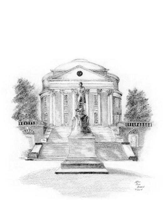 Ron Berry  'Rotunda', created in 2004, Original Drawing Pencil.