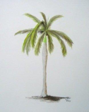 Ron Berry Artwork Royal Palm 2, 2011 Pencil Drawing, Beach