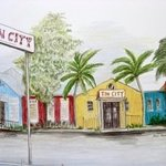 Tin City  Panorama By Ron Berry