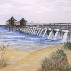 , Pier And Bushes, Beach, $289