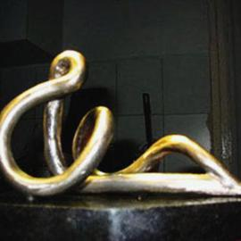 Gabor Bertalan Artwork Meditation, 2006 Bronze Sculpture, Abstract