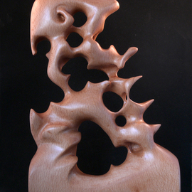 Berthold Neutze Artwork Last Call For Umberto, 2010 Wood Sculpture, Abstract