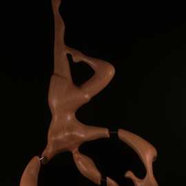 Berthold Neutze Artwork Why She Couldnt Stay, 2010 Wood Sculpture, Abstract
