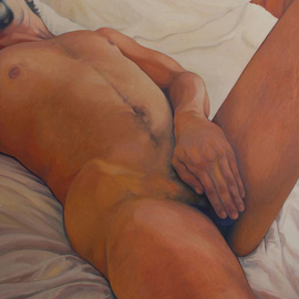 Barbara Shepard: 'Modesty  ', 2012 Oil Painting, Nudes.