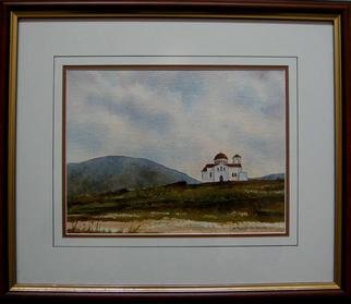 Artist: Bessie Papazafiriou - Title: Church in Karditsa - Medium: Watercolor - Year: 2000