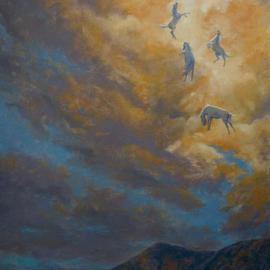 Bessie Papazafiriou: 'The Fall of Phaethon', 2003 Oil Painting, Mythology. Artist Description:      According to Greek mythology, Phaethon was the son of the sun god, Helios.  In order to prove this, he asked Helios to allow him to drive the sun' s chariot for one day.  He soon lost control of the chariot and came too near the earth.  In order ...
