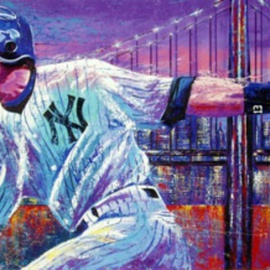 Bill Lopa Artwork Alex Rodriguez , 2016 Acrylic Painting, Famous People