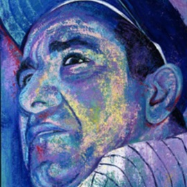 Bill Lopa Artwork Babe Ruth, 2016 Acrylic Painting, Famous People