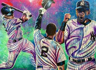 Bill Lopa Artwork Derek Jeter, 2016 Acrylic Painting, Famous People