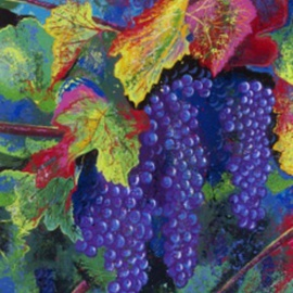 Bill Lopa Artwork Grapevine Wine Artwork, 2016 Acrylic Painting, Other