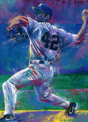 Bill Lopa Artwork Mariano Rivera, 2016 Acrylic Painting, Famous People