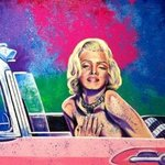 Marilyn Monroe in her Car By Bill Lopa