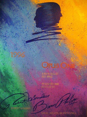 Bill Lopa Artwork Opus one wine , 2016 Acrylic Painting, Other