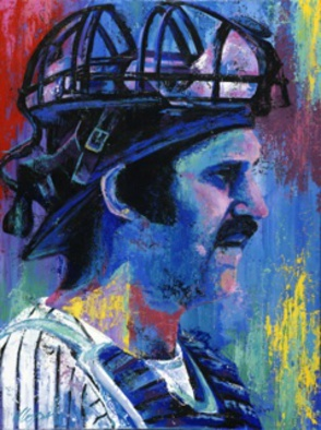 Bill Lopa Artwork Thurman Munson, 2016 Acrylic Painting, Famous People