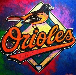 Bill Lopa: 'baltimore orioles', 2017 Giclee, Sports. Artist Description: Baltimore Orioles Logo...